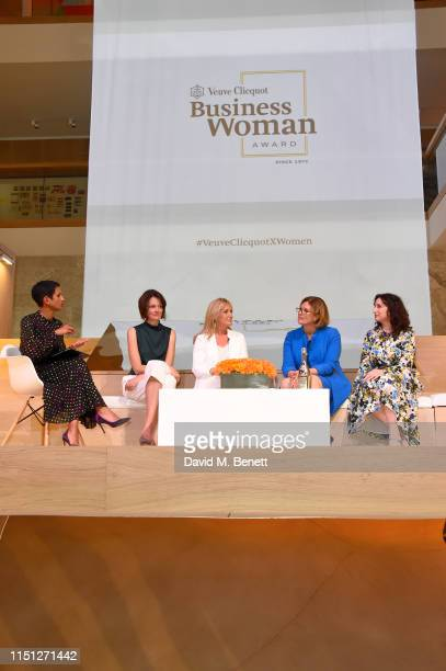 Naga Munchetty Poppy Gustafsson Chrissie Rucker Sherry Coutu and Jo Whitfield at The Veuve Clicquot 2019 Business Woman Awards at The Design Museum...