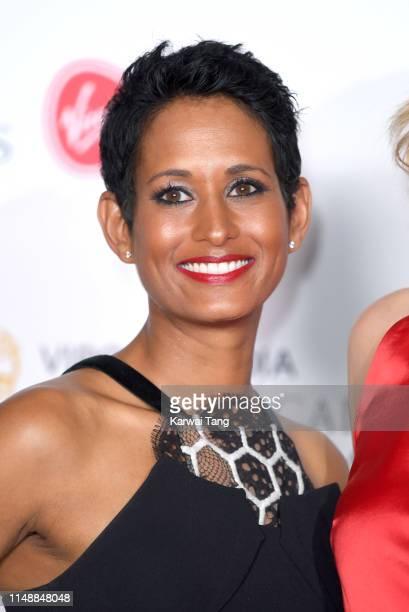 Naga Munchetty poses in the Press Room at the Virgin TV BAFTA Television Award at The Royal Festival Hall on May 12 2019 in London England