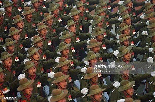 Naga Regiment marching at the Republic Day Parade Delhi India