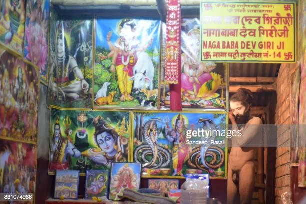 a naga sadhu during ganga sagar fair - ganga sagar stock photos and pictures
