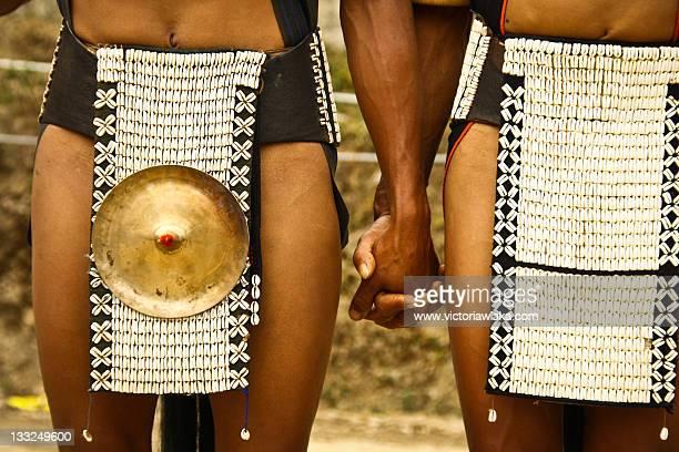 Naga Tribesmen holding hands