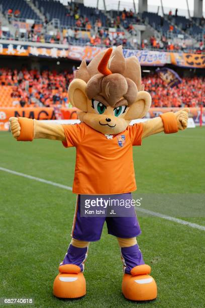 Nagano Parceiro mascot Laioh is seen after AC Nagano Parceiro and Kagoshima United at Minami Nagano Stadium on May 13, 2017 in Nagano, Japan.