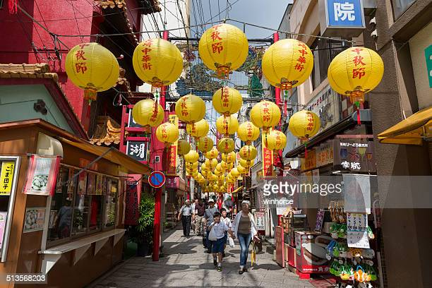 nagasaki chinatown in japan - nagasaki prefecture stock pictures, royalty-free photos & images