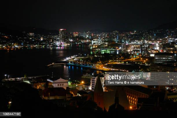 Nagasaki city and harbor in the night