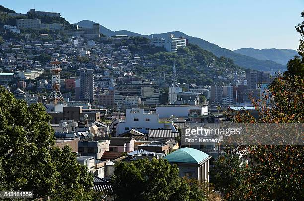 2014 nagasaki cityscape - nagasaki prefecture stock pictures, royalty-free photos & images