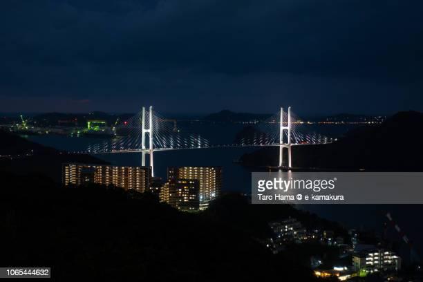 Nagasaki Megami Ohashi on Nagasaki harbor