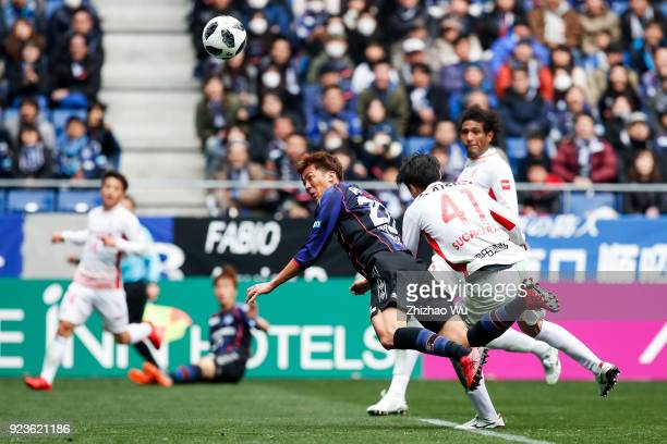 Nagasawa Shun of Gamba Osaka head shots during the JLeague J1 match between Gamba Osaka and Nagoya Grampus at Suita City Football Stadium on February...