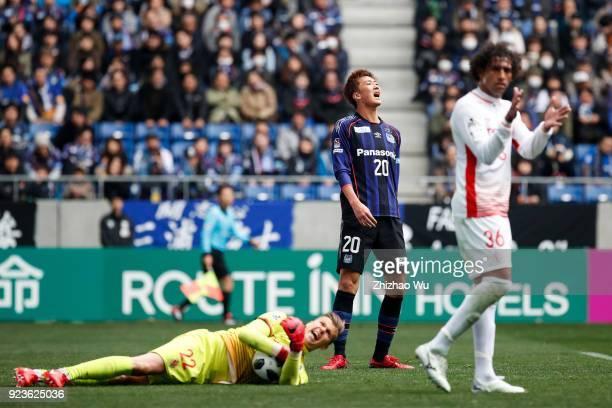 Nagasawa Shun of Gamba Osaka show his dejection during the JLeague J1 match between Gamba Osaka and Nagoya Grampus at Suita City Football Stadium on...