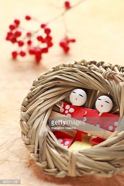 nagashi-bina doll - hinamatsuri stock pictures, royalty-free photos & images