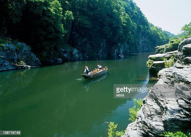 nagatoro river boating, nagatoro, saitama, japan - 埼玉県 ストックフォトと画像