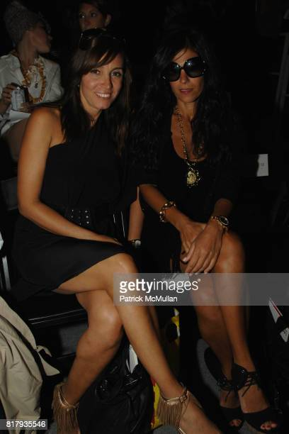 Nagma Kamali and Naz Chafe attend PRABAL GURUNG Spring 2011 Fashion Show at The Studio at Lincoln Center on September 11 2010 in New York City