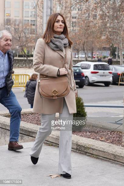 Nagore Aranburu woman of Xabi Alonso after testified in Madrid Provincial Court for the tax evasion trial in Madrid Spain on January 22 2019