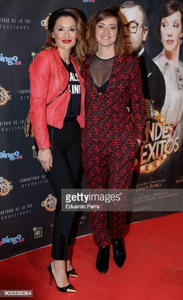 Nagore Robles and Sandra Barneda attend the 'Grandes Exitos' theatre play premiere at Rialto Theatre on January 15 2018 in Madrid Spain