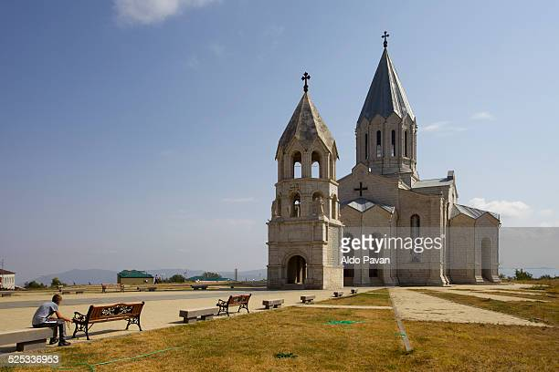 nagorno-karabakh, shushi, ghazanchetsots cathedral - ナゴルノカラバフ ストックフォトと画像