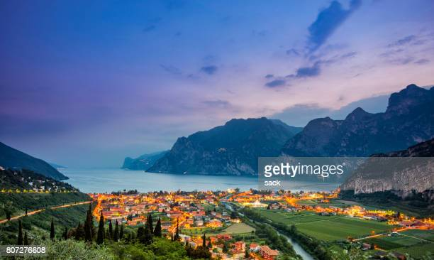 Nago-Torbole and Lake Garda at sunset