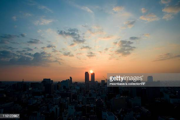 nagoya at sunrise - 名古屋 ストックフォトと画像
