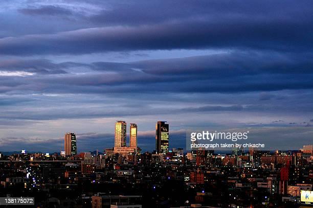 Nagoya city at night
