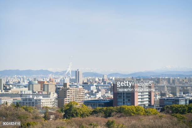 nagoya cityscape skyline panoramic view - aichi prefecture stock pictures, royalty-free photos & images