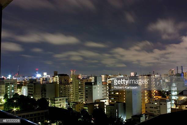 nagoya night-view - aichi prefecture stock pictures, royalty-free photos & images