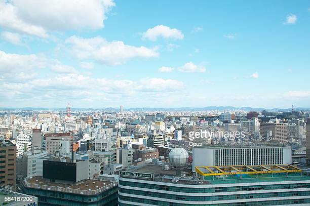 nagoya station and surrounding city buildings. nagoya, aichi prefecture, japan - 名古屋 ストックフォトと画像