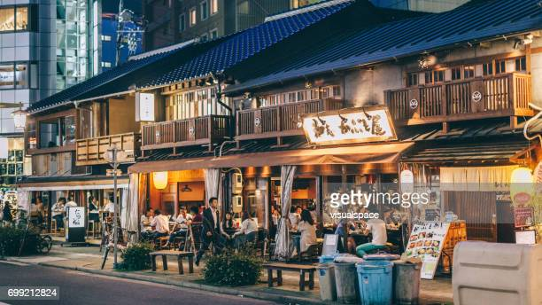 nagoya street at night - aichi prefecture stock pictures, royalty-free photos & images