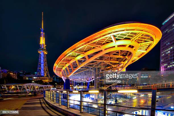 nagoya tower and oasis 21 - nagoya stock pictures, royalty-free photos & images