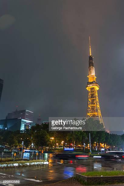 Nagoya tower at night