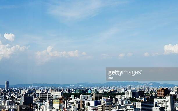 nagoya,cityscape, aerial view - nagoya stock pictures, royalty-free photos & images