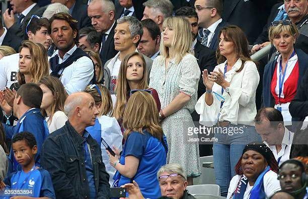 Nagui and his wife Melanie Page attend the UEFA Euro 2016 Group A opening match between France and Romania at Stade de France on June 10 2016 in...