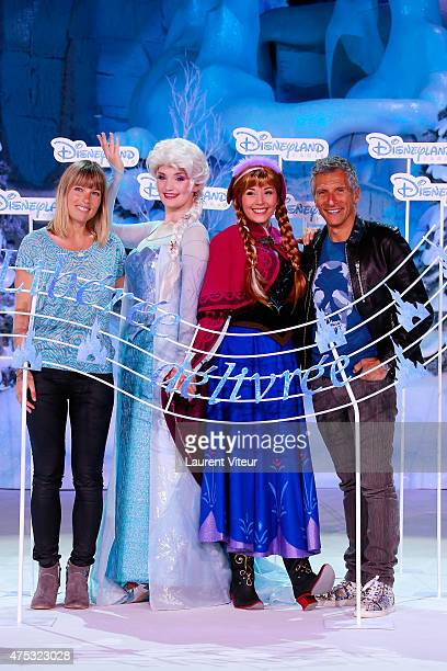 Nagui and his wife Melanie Page attends the Frozen Summer Party at Disneyland Paris on May 30 2015 in Paris France