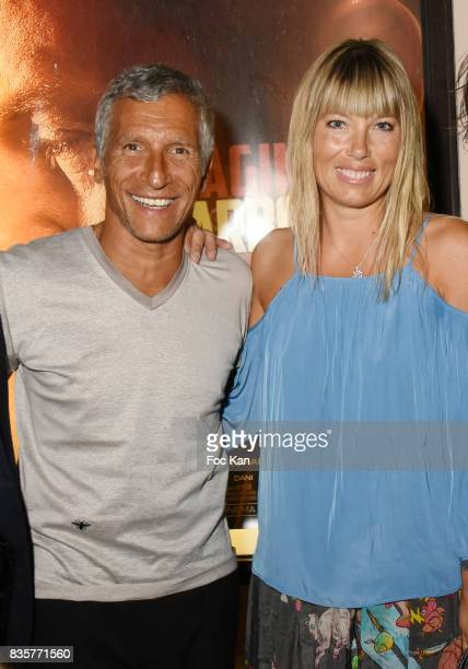 Nagui and Melanie Page attend the 'Carbone' SaintTropez Premiere Outside Arrivals At Cinema La Renaissance Place des LIces on August 19 2017 in...