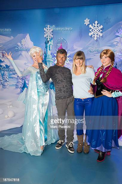 Nagui and wife Melanie Page attend the 'Christmas season' launch at Disneyland Paris on November 9 2013 in Paris France