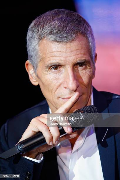 Nagui is pictured on stage during the 31st France Television Telethon at Pavillon Baltard on December 9 2017 in NogentsurMarne France