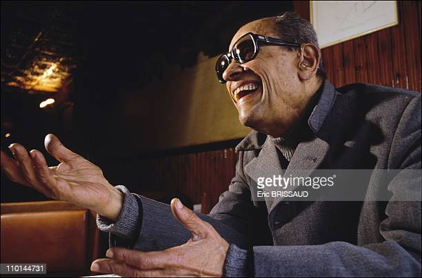 Naguib Mahfouz Nobel prize winner the most famous journalist from the newspaper 'Al Ahram' in Cairo Egypt in April 1990