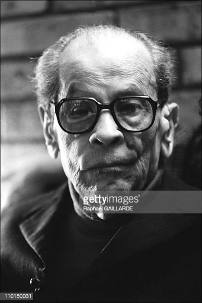 Naguib Mahfouz writer in Cairo Egypt in April 1999