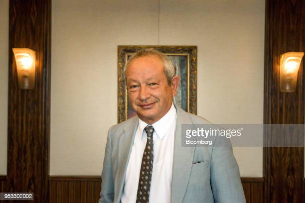 Naguib Sawiris billionaire and chairman of Orascom Telecom Media and Technology Holding SAE poses for a photograph following a Bloomberg Television...