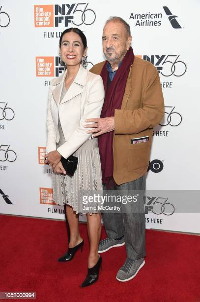 Nahal Tajadod and JeanClaude Carriere attend the 'At Eternity's Gate' premiere during the 56th New York Film Festival at Alice Tully Hall Lincoln...