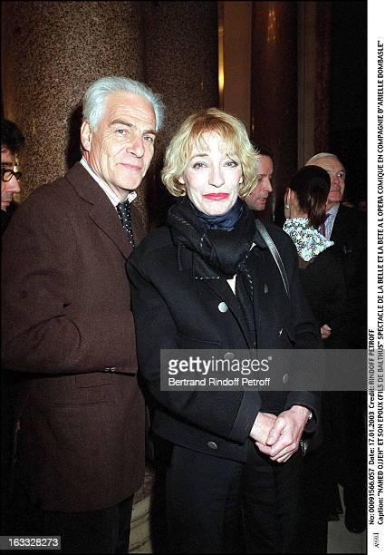 Nahed Ojjeh and her husband Fils De Balthus play of Beauty and the Beast at the Comic opera of Paris along with Arielle Dombasle