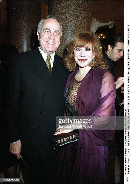 Nahed Ojjeh Andre Dunsletter play of Beauty and the Beast at the Comic opera of Paris along with Arielle Dombasle