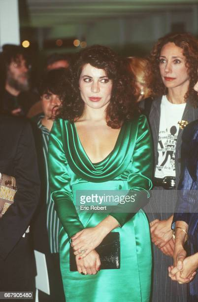 Nahed Tlass Ojjeh, widow of millionaire Akram Ojjeh. In the background Marisa Berenson.
