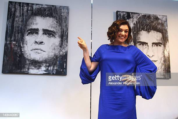 Nahid Shahalimi attends the 'German Soccer For Life' Exhibition at Schrannenhalle on April 26 2012 in Munich Germany