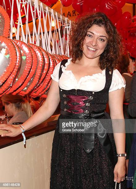 Nahid Shahalimi attends the 'Sixt Damen Wiesn' at Marstall tent during Oktoberfest at Theresienwiese on September 22 2014 in Munich Germany