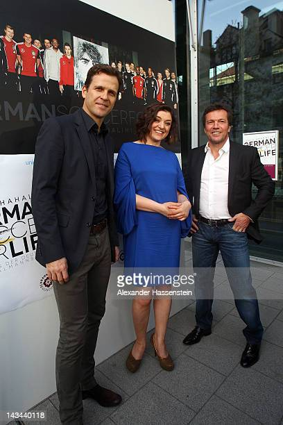Nahid Shahalimi attends with Oliver Bierhoff , manager of the German national Football team and Lothar Matthaeus the 'German Soccer For Life'...