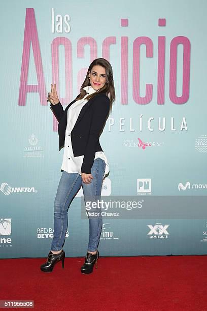 Nahima Choura Attends Las Aparicio Mexico City Premiere At Cinepolis Plaza Universidad On February