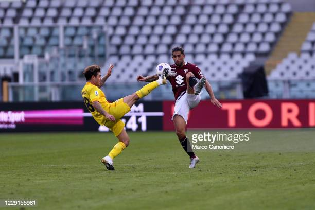 Nahitan Nandez of Cagliari Calcio and Ricardo Rodriguez of Torino Fc in action during the Serie A match between Torino Fc and Cagliari Calcio...