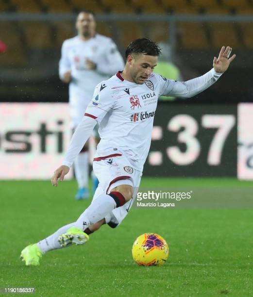 Nahitan Nandez of Cagliari during the Serie A match between US Lecce and Cagliari Calcio at Stadio Via del Mare on November 25 2019 in Lecce Italy
