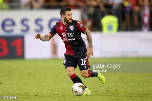 Nahitan Nandez of Cagliari in action during the Serie A match between Cagliari Calcio and Hellas Verona at Sardegna Arena on September 29 2019 in...