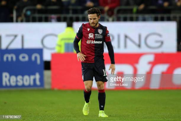 Nahitan Nandez of Cagliari in action during the Serie A match between Cagliari Calcio and Parma Calcio at Sardegna Arena on February 1 2020 in...