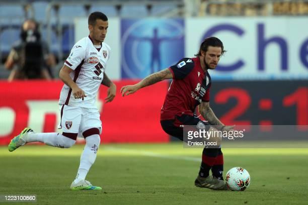 Nahitan Nandez of Cagliari in action during the Serie A match between Cagliari Calcio and Torino FC at Sardegna Arena on June 27 2020 in Cagliari...