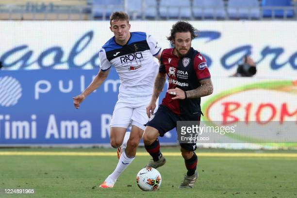 Nahitan Nandez of Cagliari in action during the Serie A match between Cagliari Calcio and Atalanta BC at Sardegna Arena on July 5 2020 in Cagliari...